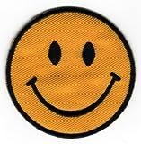 Toppa a forma di faccina sorridente, da cucire o fissare con il ferro da stiro