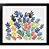 La gerbe 34x28 Large Black Wood Framed Print Art by Henri Matisse