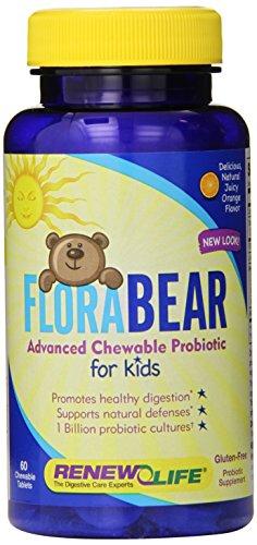 Renew Life Florabear Probiotic comprimés pour les enfants, 60 comte