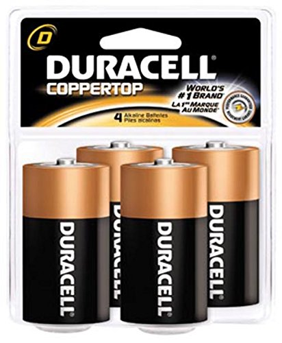 Duracell Coppertop Alkaline Battery Size D 4 - Pack of 4