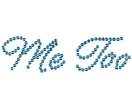 ece01e07c2 Wedding Shoe Stickers Crystal Rhinestone Applique Blue Rhinestones Stickers  for Shoes for Bride (Me Too, Blue)