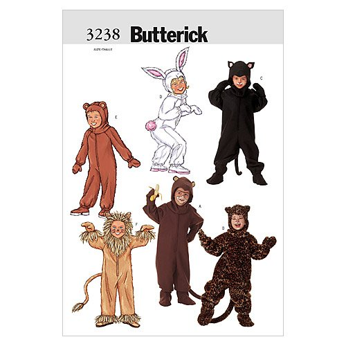 Butterick Patterns B3238 Children's/Girls'/Boys' Costume, Size (Colonial Costumes Patterns Children)