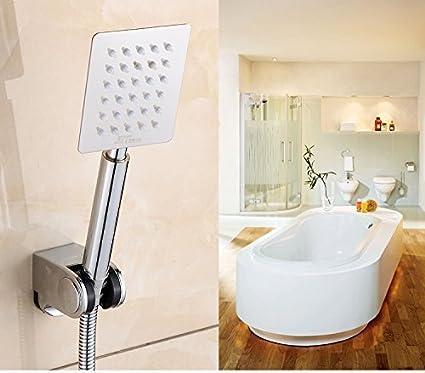 ZEYA 9 Long Ultra Slim 4x3 Rectangular Rain Spray SS Hand Shower Only