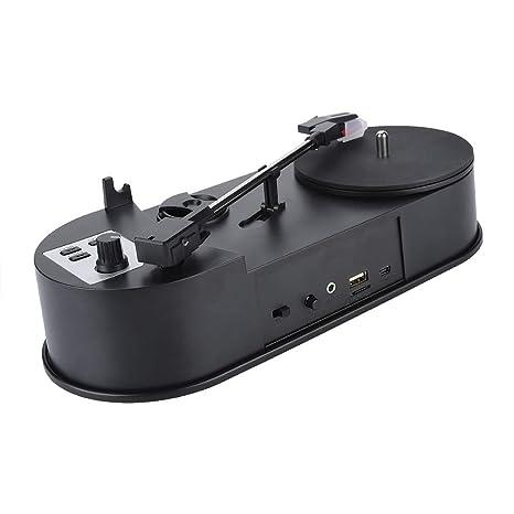 Lazmin Reproductor de Discos portátil, Tocadiscos de Vinilo ...