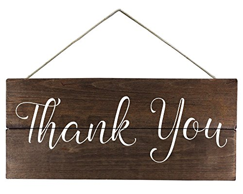 Elegant Signs Thank you sign for photo -