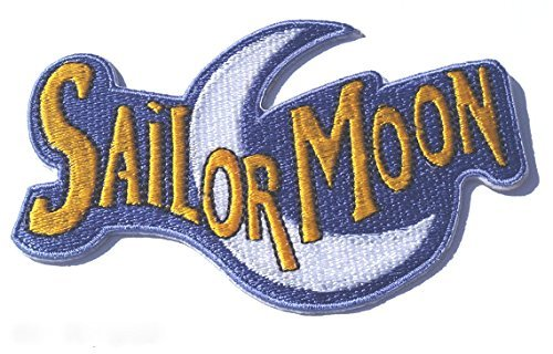 Sailor Moon Logo Patch Embroidered Iron on Badge Applique Costume Magic Retro Cosplay DIY]()
