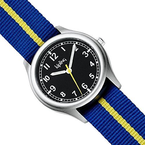 Kipling Vintage Kids Blue Stripe Quartz Watch by Kipling