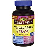 Nature Made PrenatalMulti + DHA 200 Mg  Softgels, Value Size, 60 + 30 Liquid softgels (Packing may vary))