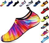 adituo Summer Sport Water Skin Aqua Shoes for Couples Womens Mens US 10.5-11 Men Colorful 44-45