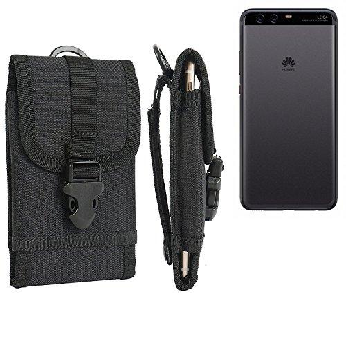 bolsa del cinturón / funda para Huawei P10 Plus, negro | caja del teléfono cubierta protectora bolso - K-S-Trade (TM)