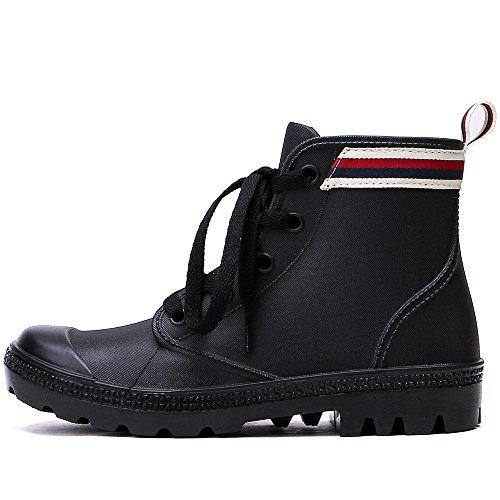 Tongpu Dames Enkellaarsjes Mode Schoeisel Zwart