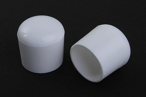 Young schwinn DESIGN - Taco protector para pata de silla (4 unidades, diámetro 22 mm, de plástico, color blanco)