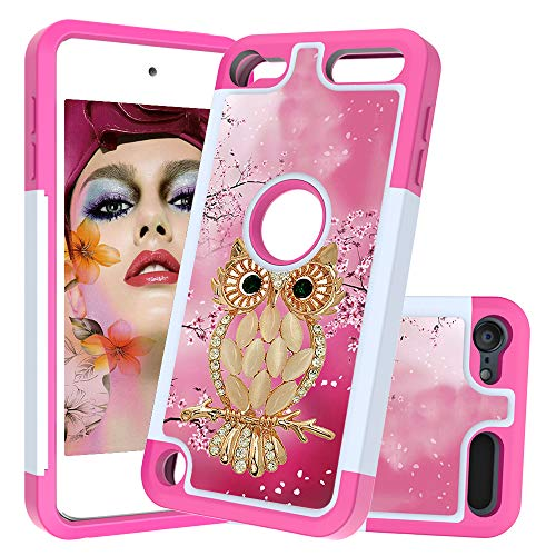 iPod Touch 7 Case,iPod Touch 6 Case, F Folice [Shock Absorption] Rugged Heavy Impact Resistant PC+TPU Dual Layer Silicone case Cover for Apple iPod Touch 5/6/7th Generation (Seashell Cat) (Dr Who Ipod 5 Case)