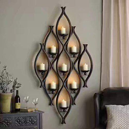 Agaas Enterprises Antique Wall Hanging Candle Holder For Home Decoration Buy Online In Guernsey At Guernsey Desertcart Com Productid 149231998