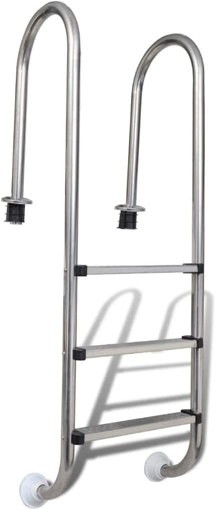 ghuanton Escalera de Piscina 3 peldaños Acero Inoxidable 120 cm ...