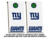 New York Giants Cornhole Board Decals - DARK BLUE - Fit for Bean Bag Toss Outdoor Game Sticker Set - Novelty DIY Decals