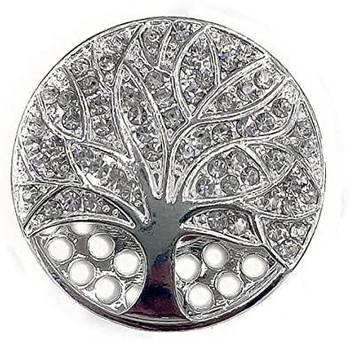 Broche aimant/ée en tissu Motif arbre de vie