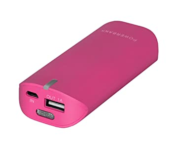 Woxter Power Bank 4400 - Batería portátil externa, fucsia