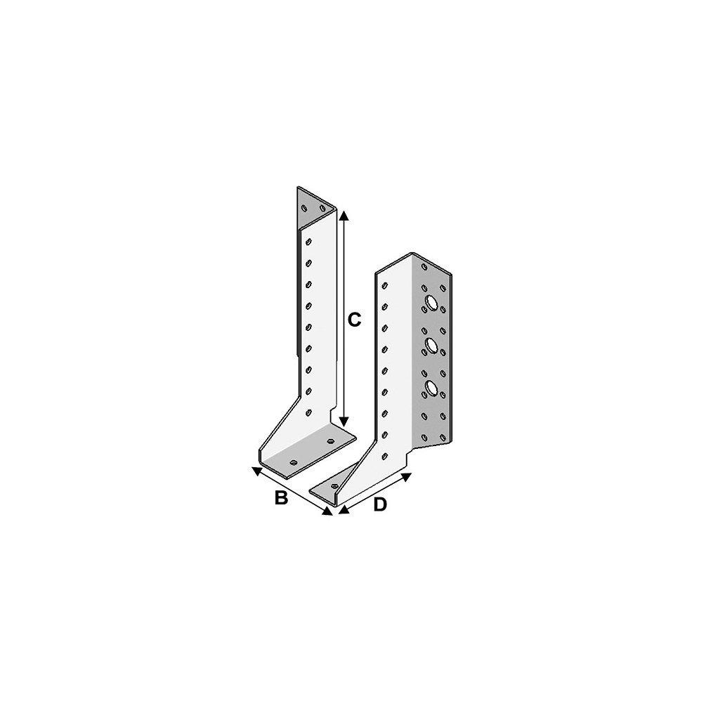 P x l x H x /ép Fixtout 80 x 30 x 148 x 2,0 mm Sabot de charpente /à ailes ext/érieures /à 2 /él/éments Fixtout