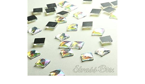 Hotfix DMC Tri/ángulo Crystal 6/x 6/mm pieza n/úmero a elegir Cristal Formas brillantes 50