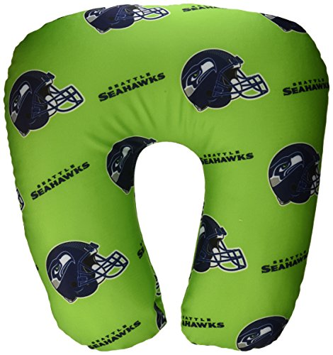 The Northwest Company Officially Licensed NFL Seattle Seahawks U-Neck Beaded Spandex Neck Pillow