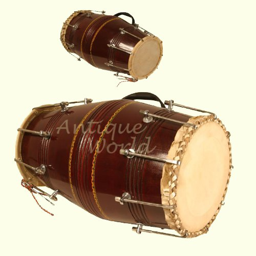 Antiques World Classically Styled Dholak With Nut and Bolt Musical Instrument AWUSAMI 052 by Antiques World