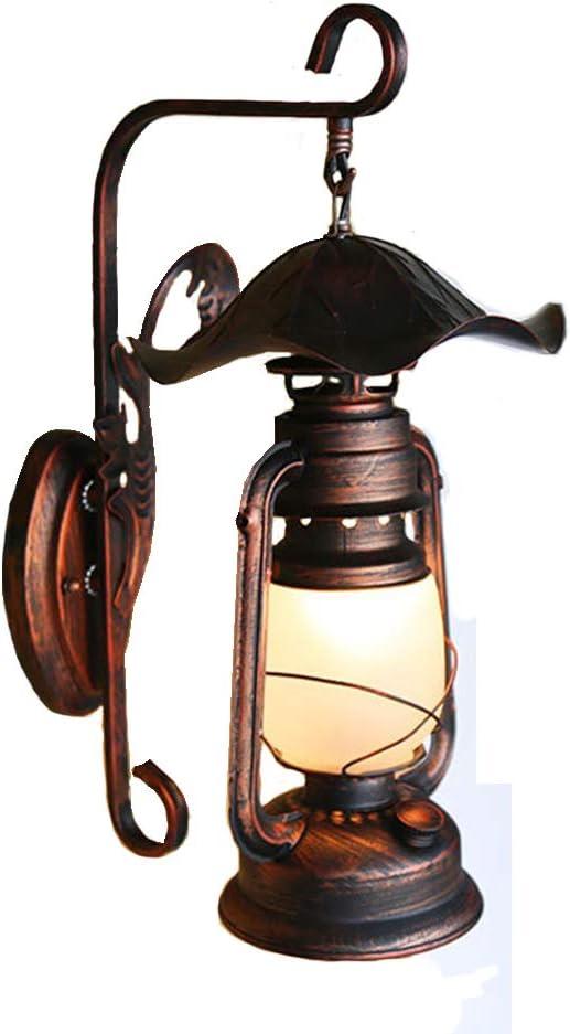 SXYRN Lámpara De Pared De Pasillo De Pueblo Lámpara De Caballo Antiguo Lámpara De Queroseno Antiguo Corredor De Patio Lámpara De Pared Decorativa Retro E27