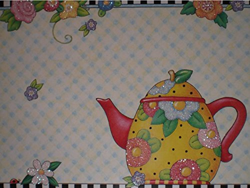 Mary Engelbreit Teapot & Flowers Note Cards w/ Envelopes - Set of 8