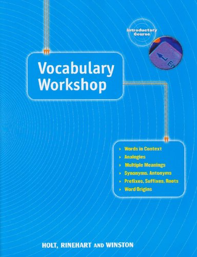 Elements of Language: Vocabulary Workshop Grade 6 Introductory Course