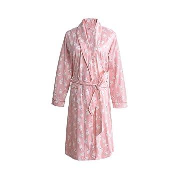 BATHROBEX Camisón, Kimono Japonés para Damas, Algodón, Bata De Baño, Albornoz,