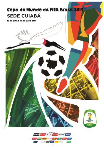 Barcelona World Cup (Brazil 2014 FIFA World Cup Poster 12