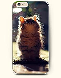 iPhone 6 Case 4.7 Inches Cat and Bubbles - Hard Back Plastic Phone Cover OOFIT Authentic