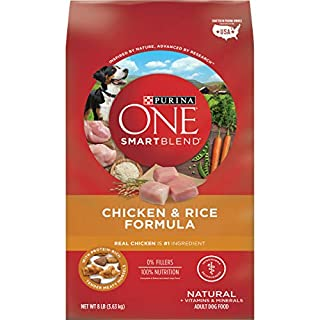 Purina ONE Dry Dog Food, SmartBlend Chicken and Rice Formula, 8 Lb Bag