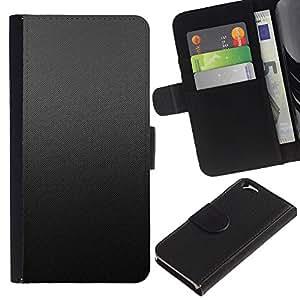 Protector de cuero de la PU de la cubierta del estilo de la carpeta del tirón BY RAYDREAMMM - Apple Iphone 6 - Patrón Gris Tela