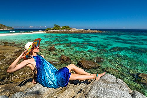 mare dye drappo Batik Pareo Bali portafoglio Tye spiaggia da sciarpa Msox Batik telo Sarong Rasta wxIRqv8w
