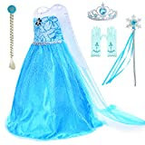 Snow Queen Princess Costumes Dress for Little Girls Birthday Party Dress Up Accessories 2-11 Years...