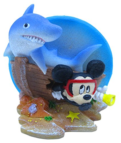 (Penn Plax Officially Licensed Classic Disney Aquarium Decorations – MICKEY MOUSE SHIPWRECK WITH SHARK - 3