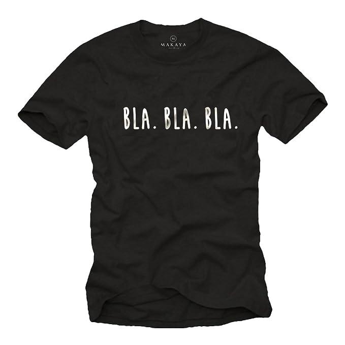 Camisetas divertidas con frases para hombres - BLA BLA BLA: Amazon.es: Ropa y accesorios