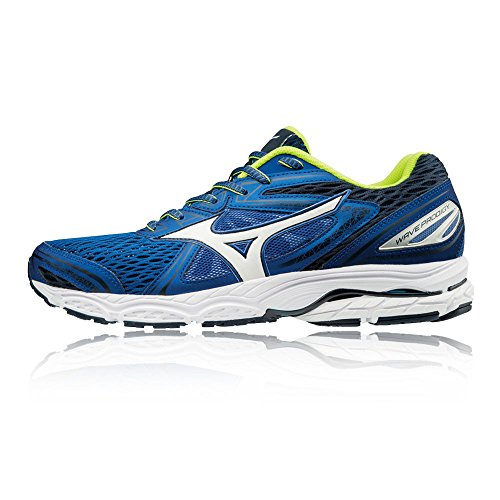Mizuno Men's Wave Prodigy Running Shoes, Black Blue