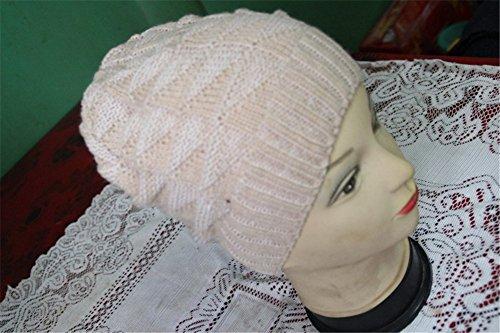 YALL Donna Berretto Lavorato A Maglia In Acrilico Cavo Testa Manicotto  Caldo Cappelli Di Svago ee33c4f37a59