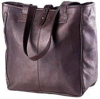 Amazon.com  Clava Leather Oversized Vachetta Leather Tote Cafe  Altman  Luggage Co. d6de7fa193d32