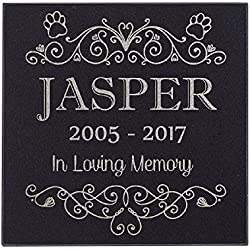 Paw Print In Loving Memory Cat Memorial Personalized Grave Stone For Cat | Granite