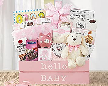 wine country gift baskets welcome home baby girl amazon com