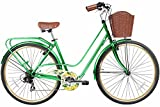 "Gama Bikes Women's City Avenue Step-Thru 7 Speed Shimano Commuter Bicycle, 17""/One Size, Green"