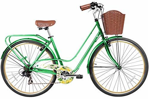 Gama Bikes Women's City Avenue Step-Thru 7 Speed Shimano Commuter Bicycle, 17