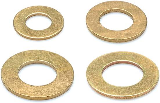 Laiton Boulon Cuivre Rondelles M/étalliques Entretoises M/éson Machine Fixation Composants M3 M4 M5-20 ORANXIN Vis Rondelles Plates