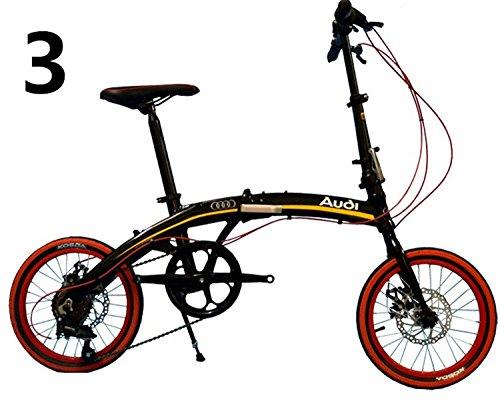 16インチ折りたたみ自転車 折畳自転車 おりたたみ自転車 MTB おりたたみ自転車W808 B00QA16WSWブラック