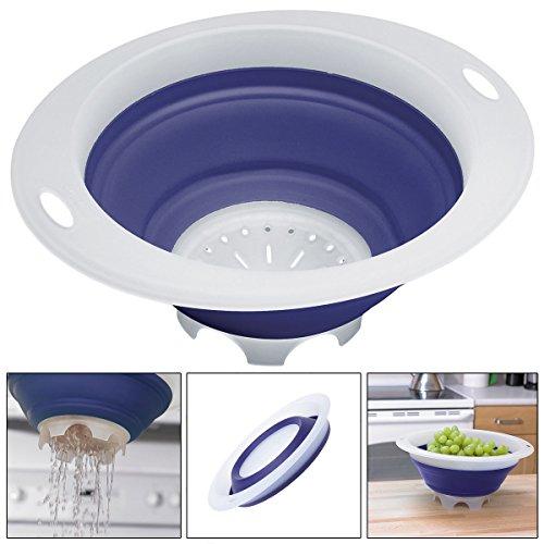 Price comparison product image Progressive Collapsible Colander Folds Flat Save Storage Space Dishwasher Safe