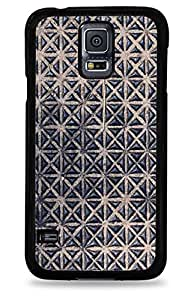 605 Triangle Texture Pattern Samsung Galaxy S5 Hardshell Case - Black