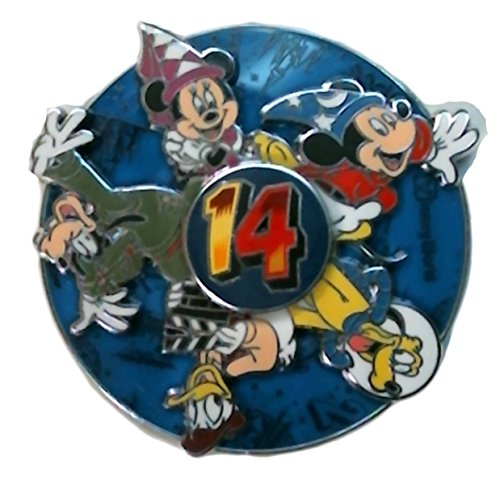 [Disney Pin - WDW - 2014 Dated Pin - Fab 5 Spinner - 99380] (Donald Duck Costumes For Adults)